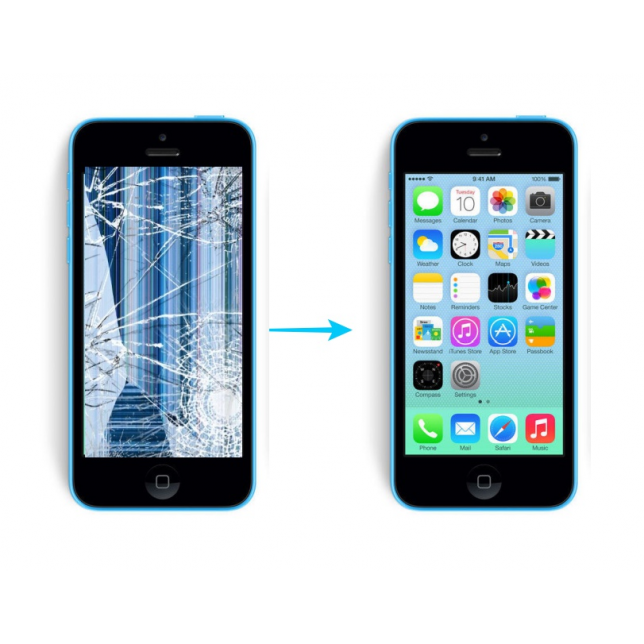 Reparar pantalla iphone 5c compatible iPhone 5C