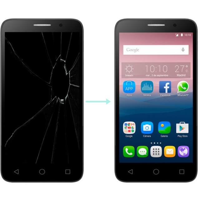 Cambiar lcd Alcatel One Touch 5015