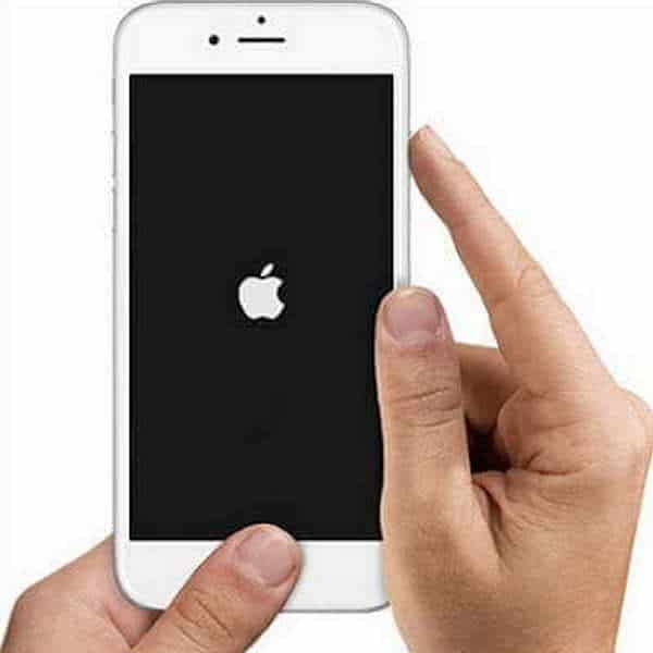Logo apple hard reset iphone